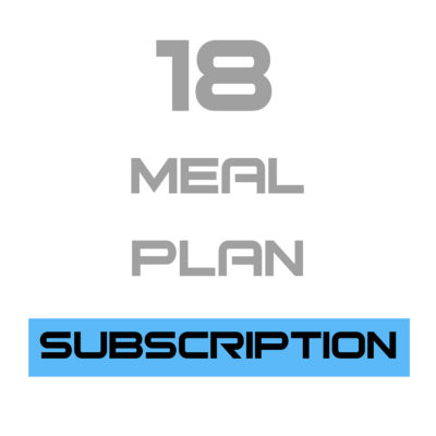 18 Meal Plan Subscription